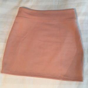 High waisted pink mini skirt